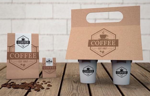 커피 숍용 문구 모형