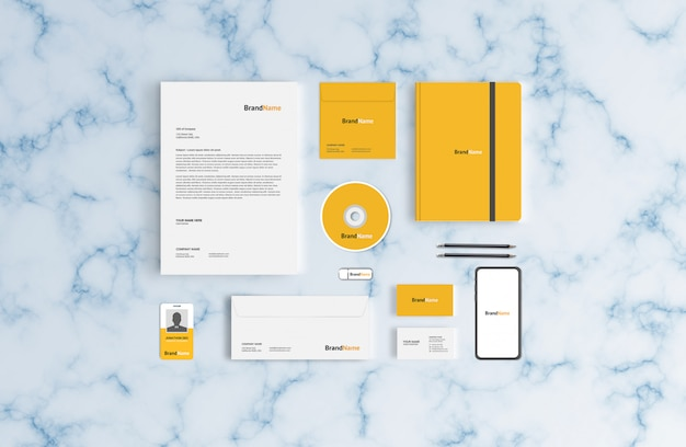 Stationery mockup template