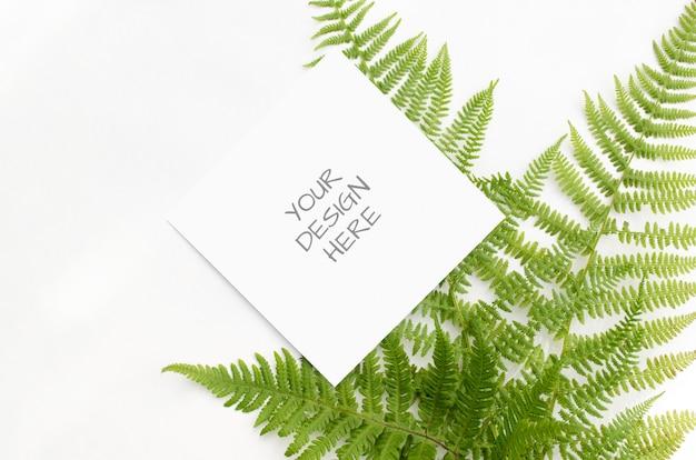 화이트에 녹색 고비와 편지지 이랑 프리미엄 PSD 파일