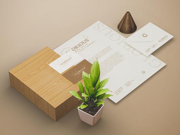 편지지 인쇄 목업 템플릿