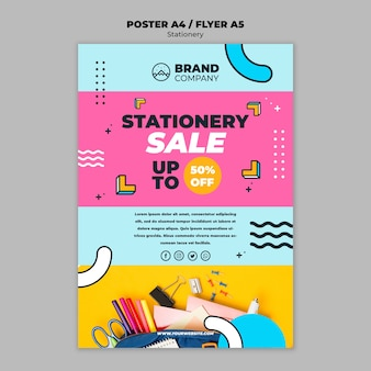 Stationery sale concept flyer