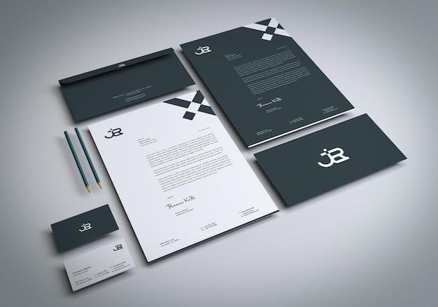 Stationery set mockup for presentation