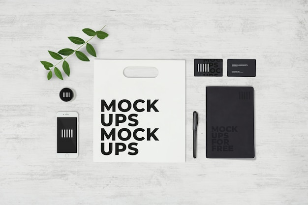 Stationery set mockup