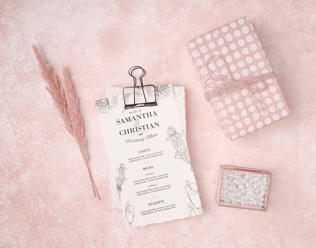 Stationery wedding invitation concept
