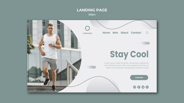 Stay cool and do sport landing page