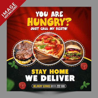 Stay home we deliver banner