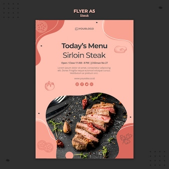Steak flyer template theme