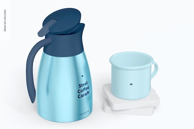 스틸 커피 카라페 모형