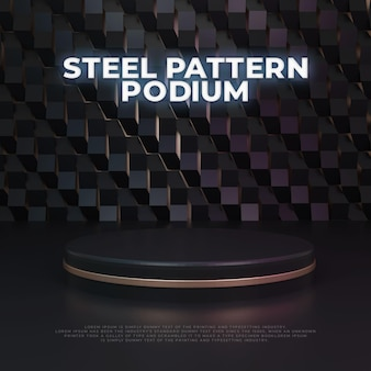 Steel  pattern podium product display