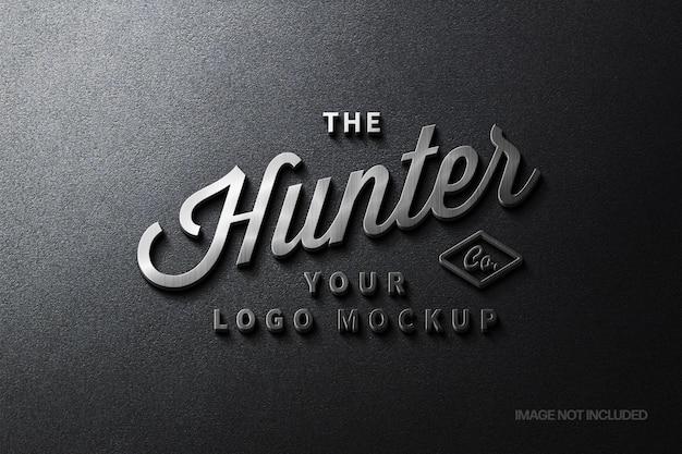Steel signage logotype mockup