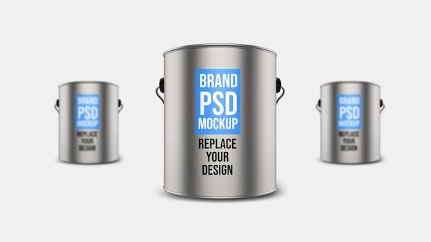 Steel tank 3d rendering mockup design