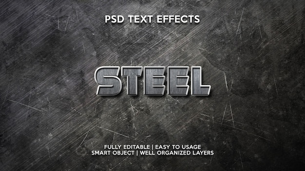 Steel text effects
