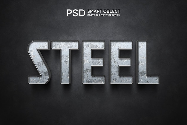 Steel text style effect