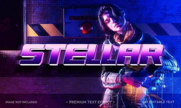 Stellar 3d text effect mockup template