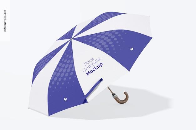 Мокап палка зонтик