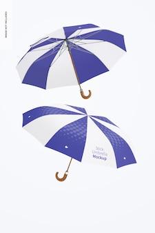 Палка зонтики мокап, плавающий