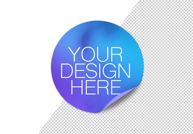 Sticker mock up isolated