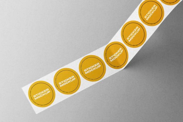 Sticker roll mockup