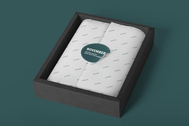 Наклейка с шаблоном макета упаковки