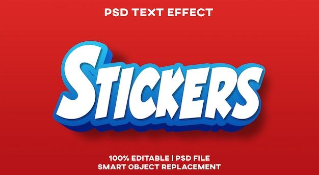 Стикеры с текстовым эффектом