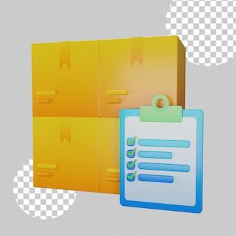 재고 제품 개념 3d 그림