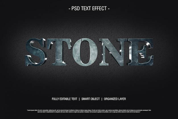 Stone 3d text effect