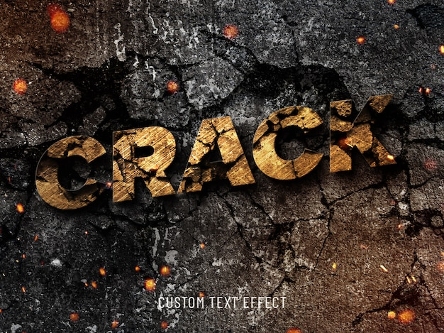 Stone cracked cool text effect