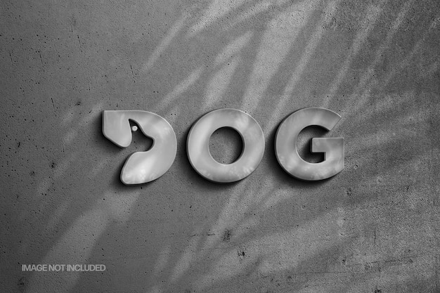 Stone logo and text effect with shadow overlay
