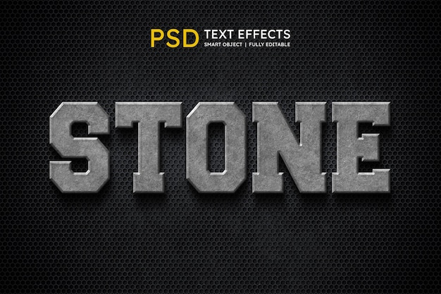 Stone text style effect