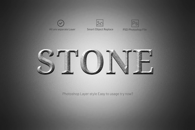Stone text style
