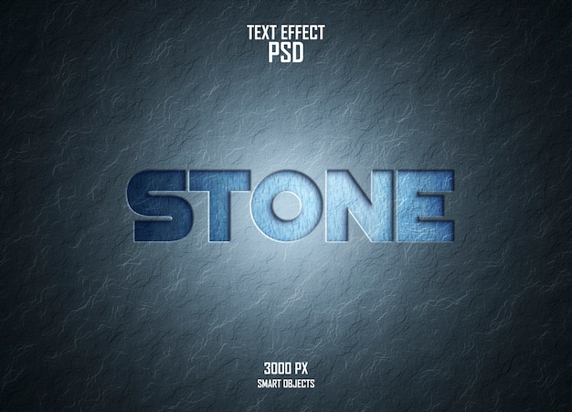 Текстовый эффект каменной стены