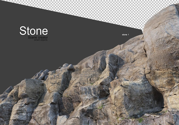 Stones from various natural landscapes