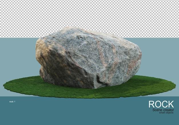 잔디밭에 다양한 크기의 돌