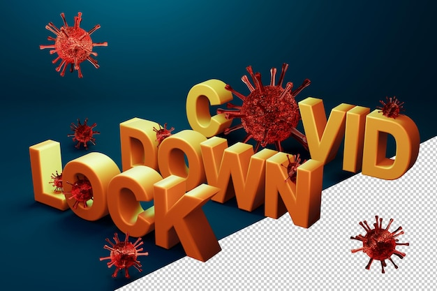 Остановить вирус covid-19 в концепции 3d-рендеринга