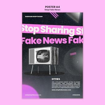 Остановить шаблон печати фальшивых новостей Бесплатные Psd