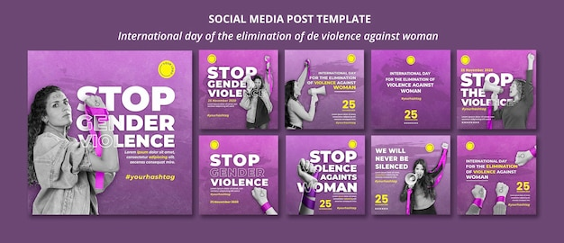 Stop violence against women social media posts