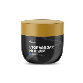 Storage jar mockup Premium Psd