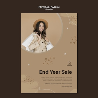 Store sale poster template