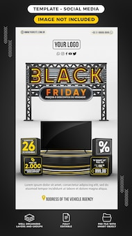 Stories black friday with smart tv on offer in brazil