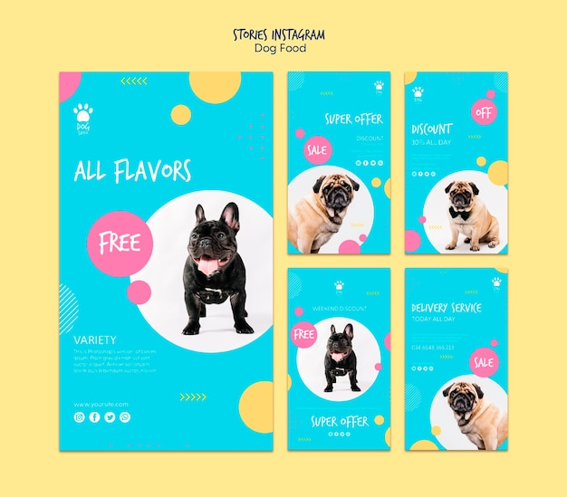 Stories for instagram with dog food offers