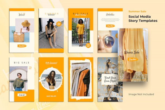 Stories templates brush social media banner