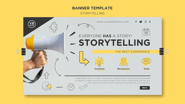 Modello di banner di storytelling
