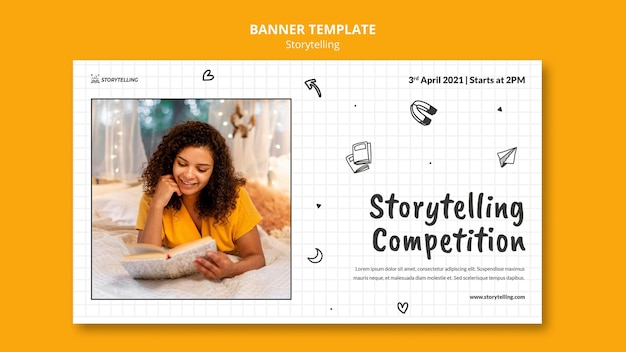 Storytelling community banner template