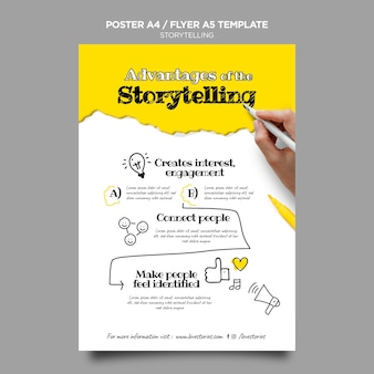 Storytelling flyer template Free Psd