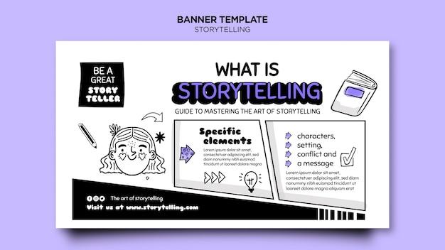 Рассказывание историй для шаблона маркетингового баннера