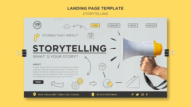 Storytelling landing page template