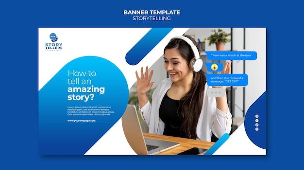 Storytelling per modello di banner di marketing
