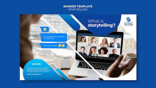 Storytelling for marketing banner template