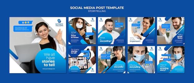 Storytelling for marketing instagram posts