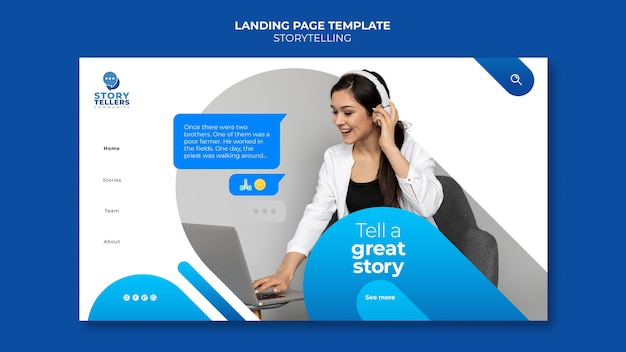 Storytelling for marketing landing page